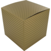 Gift box, Dot, Paper, 12x12x12cm, gold