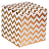 LOVLY® Box, Chevron, 8x8x8cm, wit/Goud