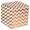 LOVLY® Box, Chevron, 10x10x10cm, wit/Goud