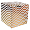 LOVLY® Box, Chevron, 20x20x20cm, wit/Goud