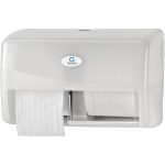 Qleaniq® Toilet paper dispenser, PS, pattern  luxury, compact, white