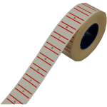 Label, Price label, Paper, Stripes, 21x12mm, red