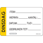 FoodSecure® Label, Label 'use first' and 'extensive', Paper, 50x75mm,