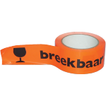SendProof® Marking tape, breakable/glass, PVC, 50mm, 66m, fluorescent Orange