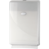 Folded hand towel dispenser, PS, design , , white