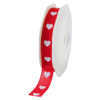 Ribbon, 16mm, 15m, red/White