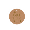 kraftlabel goud -a gift for you- 5cm
