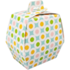 Easter Egg box, Cardboard, 20x14x12cm, Retro dots, Easter,