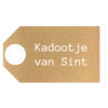 Label, Kraft, white