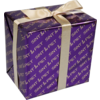 LOVLY® Gift-wrapping paper, 50cm, 200m, Sint & Piet, paars/Goud