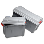 Container, PS, With handles, transport container, 530x340x380mm, petrol/Grey